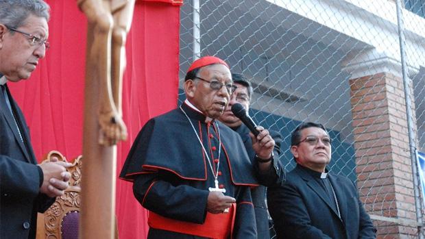 El cardenal Ticona en el seminario San Jerónimo / CEB