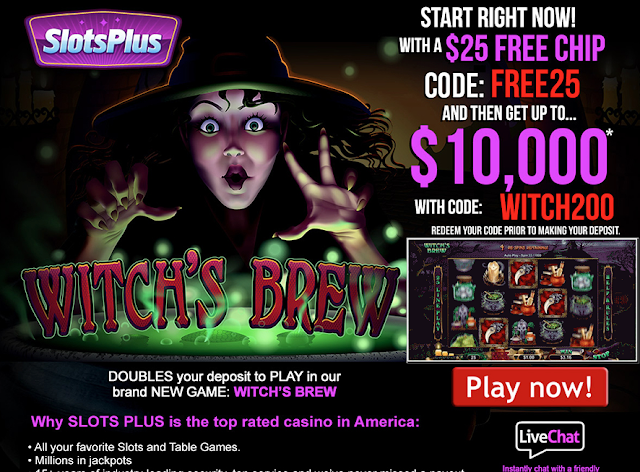 SlotsPlus Casino Welcome Offer: $25 FREE plus 200% Welcome Match