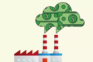 Smokestacks burning money (Credit: Shutterstock) Click to enlarge. Click to Enlarge.