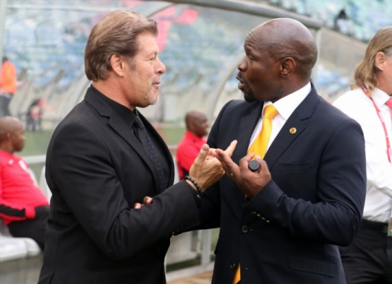 Luc Eymael of Free State Stars and Steve Komphela of Kaizer Chiefs