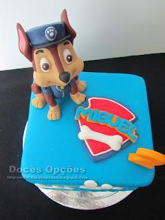 bolo aniversário patrulha pata chase