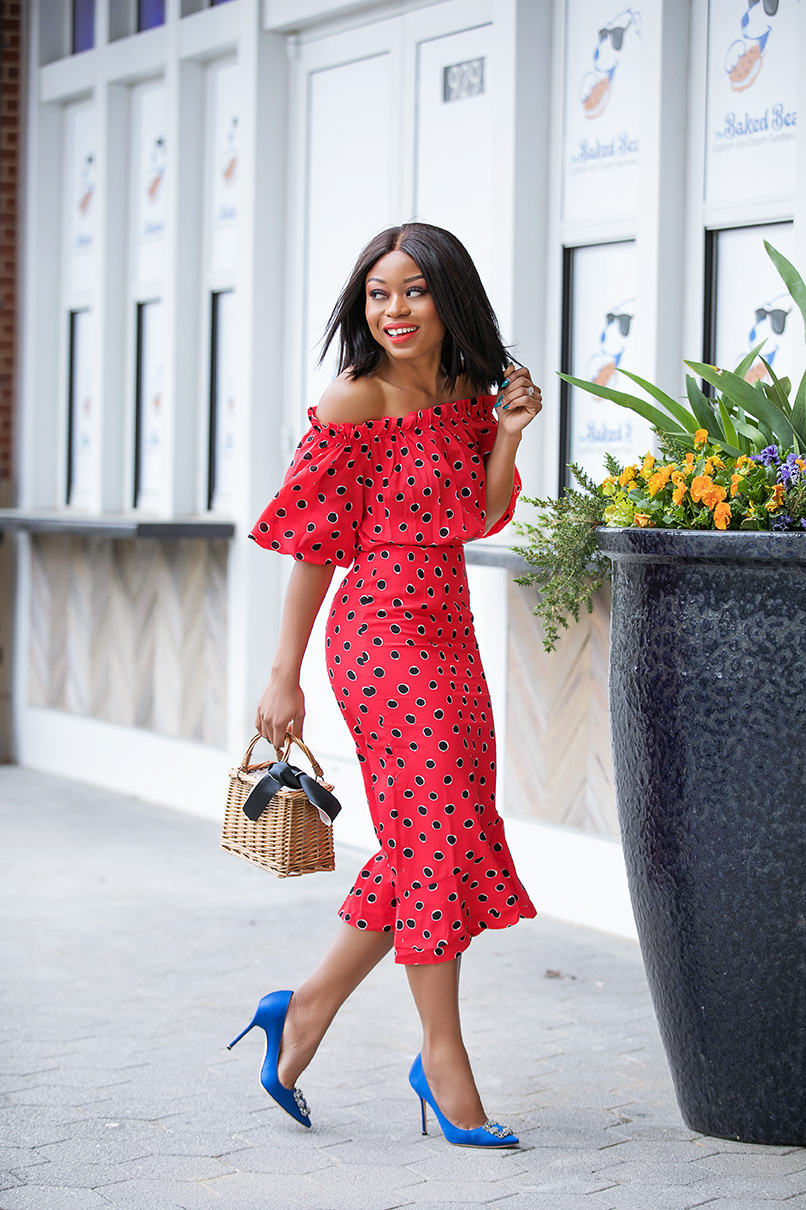 Stella-Adewunmi-of-jadore-fashion-share-What-To-Wear-This-Mothers-Day-Weekend-Saloni-polka-dot-dress
