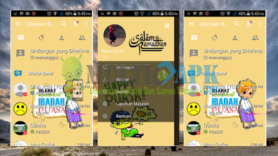 BBM Mod Tema Ramadhan Terbaru Versi 2.13.1.14 Apk