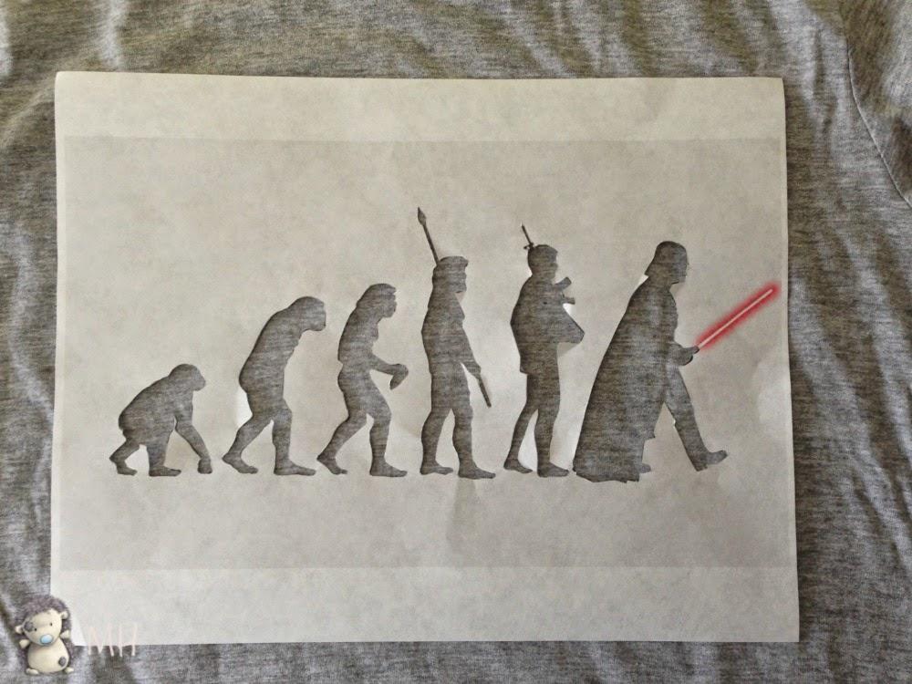 Camiseta de la evolución hasta Darth Vader
