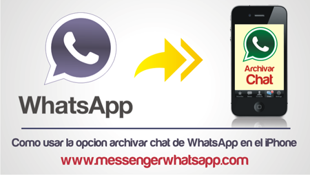 Como usar la opcion archivar chat de WhatsApp en el iPhone