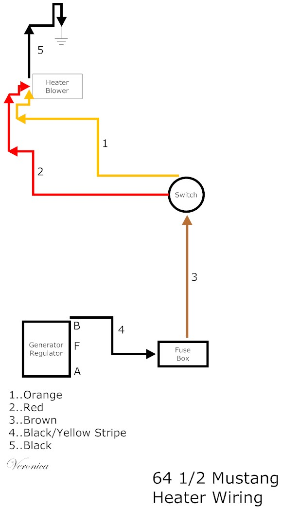 heater wiring diagram on a 1966 mustang