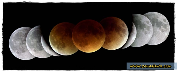 Gerhana Bulan, Proses Gergaha Bulan, Jenis-jenis Gerhana Bulan, Gambar Gerhana Bulan. | www.zonasiswa.com