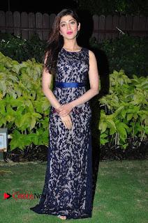 Actress Pranitha Subhash Stills in Long Dress at 9th Edition Epicurus Indian Hospitality Awards  0082