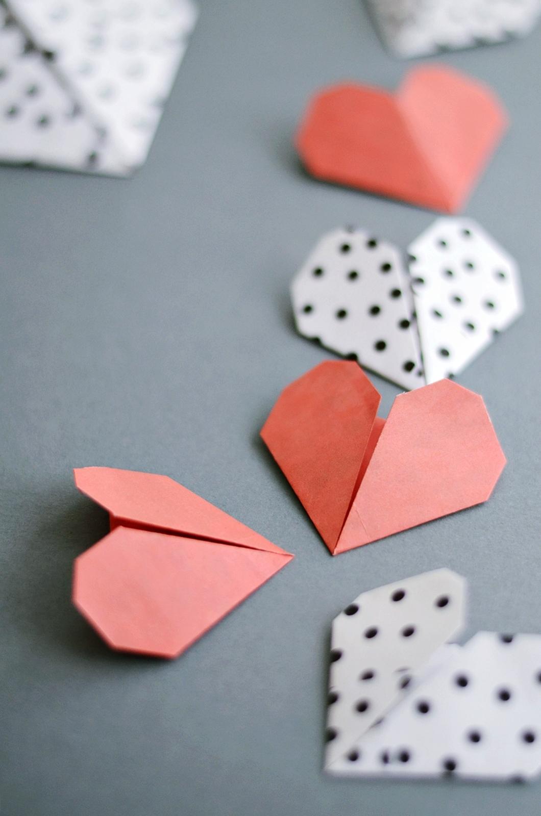 DIY Origami Herzen