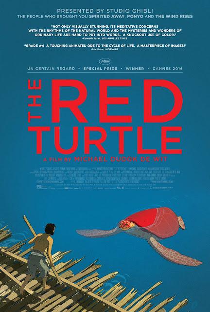 Cartel de la próxima película de Studio Ghibli La Tortuga Roja dirigida por Michaël Dudok de Wit
