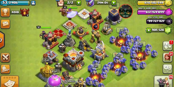 Download Clash Of Clans v11.446.11 Mod Apk Unlimited Gems Gold Elixir Android Terbaru 2019