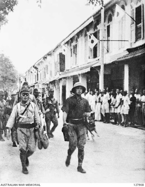 Japanese troops in Labuan, North Borneo, 14 January 1942 worldwartwo.filminspector.com
