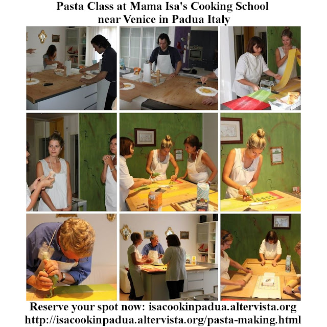 Pasta Classes at Mama Isa's Cooking School near Venice Italy