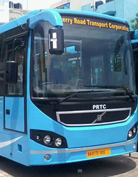 Puducherry to Coimbatore PRTC A/C Volvo Bus