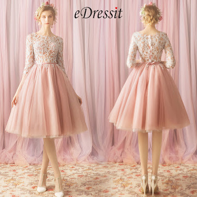 Sexy Lace Applique Tulle Cocktail Party Prom Dress