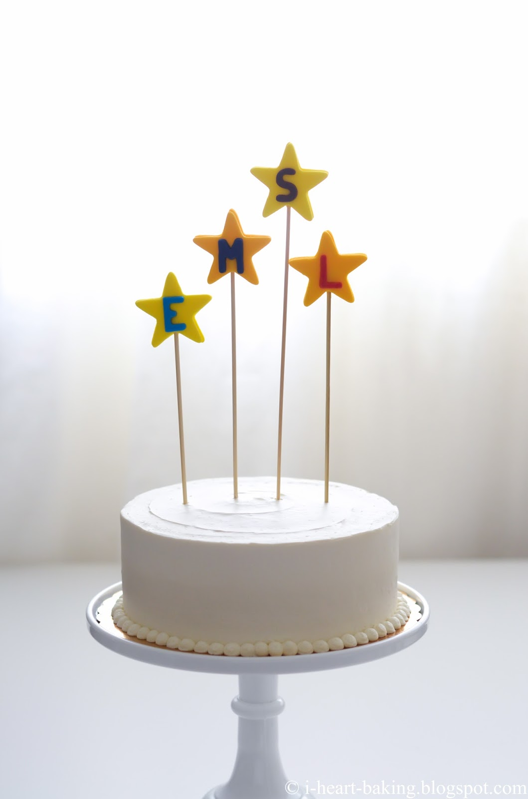 I Heart Baking Superhero Logo Birthday Cake