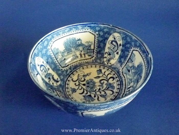 Premier Antiques Early Pearlware Chinoiserie Pattern Bowl