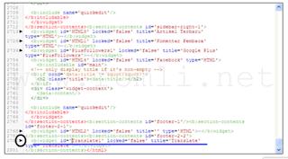 Cara menghapus title widget di blogger