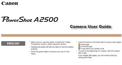 Canon Powershot A2500 Manual