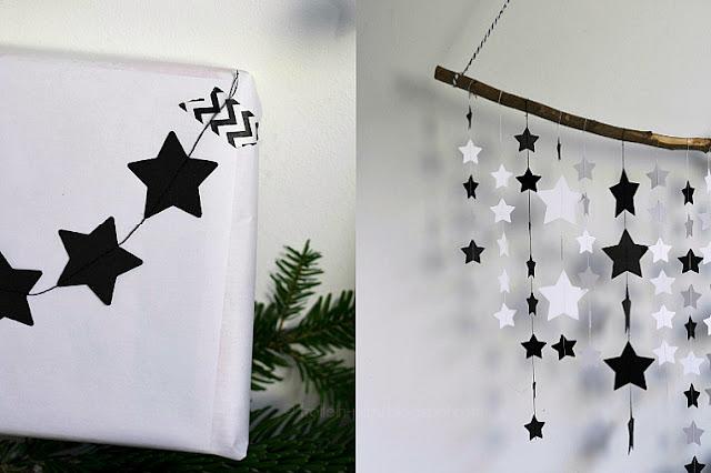 Sternengirlande aus Papier