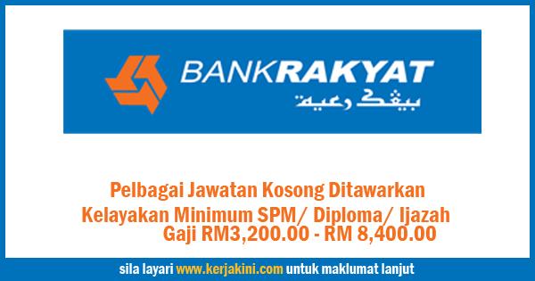 Jawatan Kosong Bank Rakyat Berhad