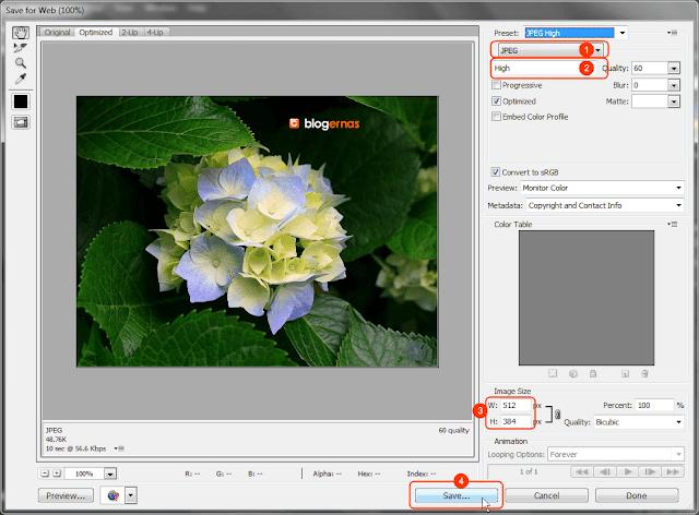 Cara Kompres Foto dg Adobe Photoshop