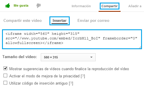 Insertar Video YouTube - Charkleons