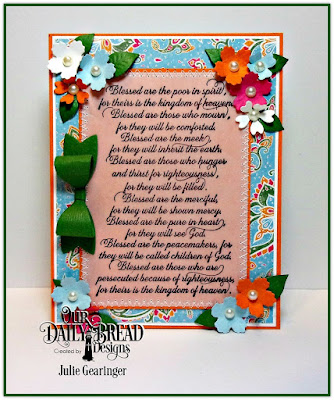 Our Daily Bread Designs Stamp: The Beatitudes, Our Daily Bread Designs Custom Dies: Bitty Blossoms, Small Bow, Our Daily Bread Designs Paper Collection: Beautiful Boho
