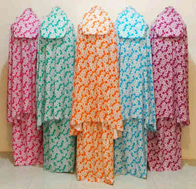 Mukena Warna Full Motif