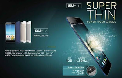 Advan S5J+ (Plus) Super Thin