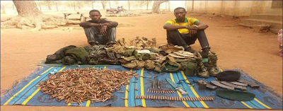 Nigerian Army arrest two soldiers working with Boko Haram in Adamawa (See Photos)