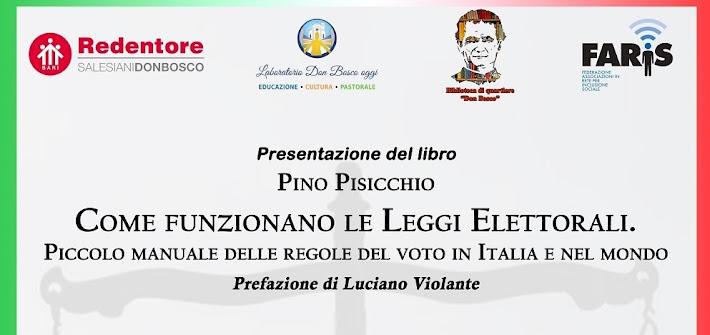 Bari, al Redentore la presentazione del libro di Pino Pisicchio sulle leggi elettorali