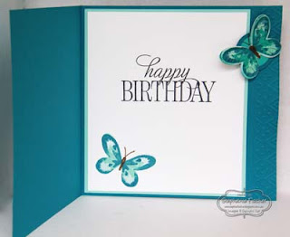SU, Latch card, fun fold, Stampin Up, Butterfly Basics, Heat Embossing