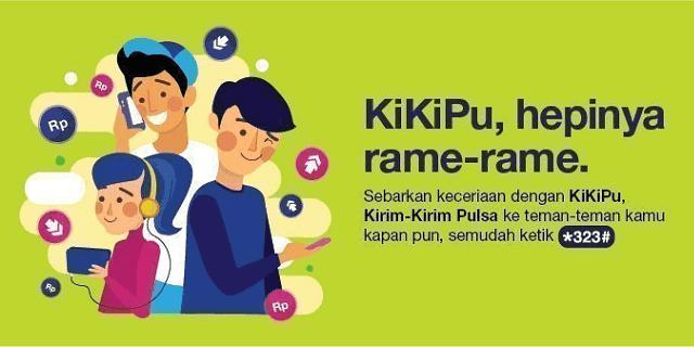 kikipu adalah layanan transfer pulsa yang disediakan oleh tri indonesia