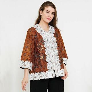 desain baju batik kerja modern