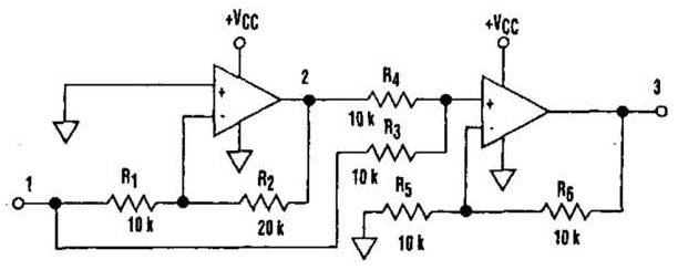 of a noninverting amplifier for a given input waveform and gain