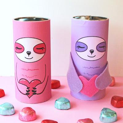 Sloth Valentine Printables @michellepaigeblogs.com