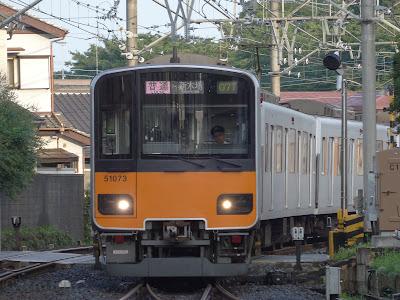 東上線を走る東武鉄道50070系51073F