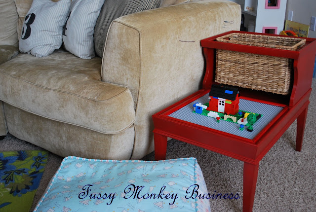 Bedside Table Repurposed for Lego Storage
