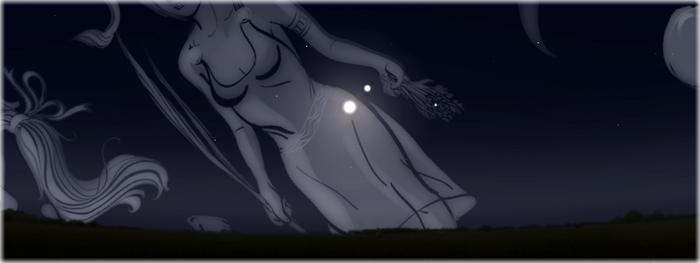 encontro Lua e Júpiter no céu
