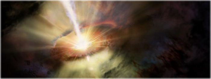 buraco negro - tempestade intergalática