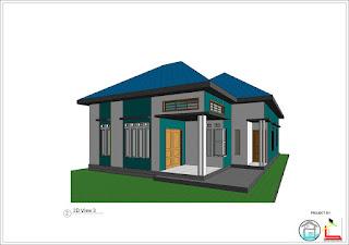 mozaik arsitek : desain rumah type 84 di luas tanah 122m2