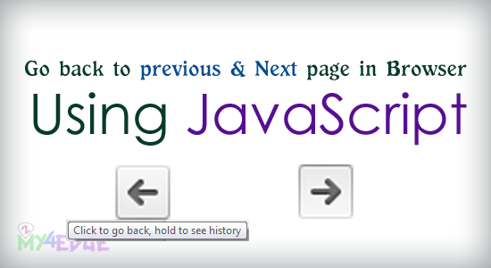 Go back to previous and next page onClick in browser using