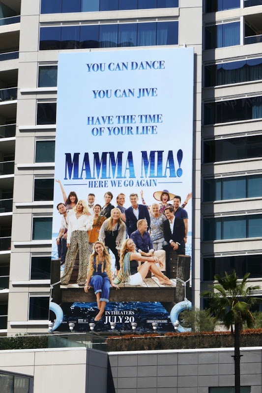 Mamma Mia 2 movie billboard