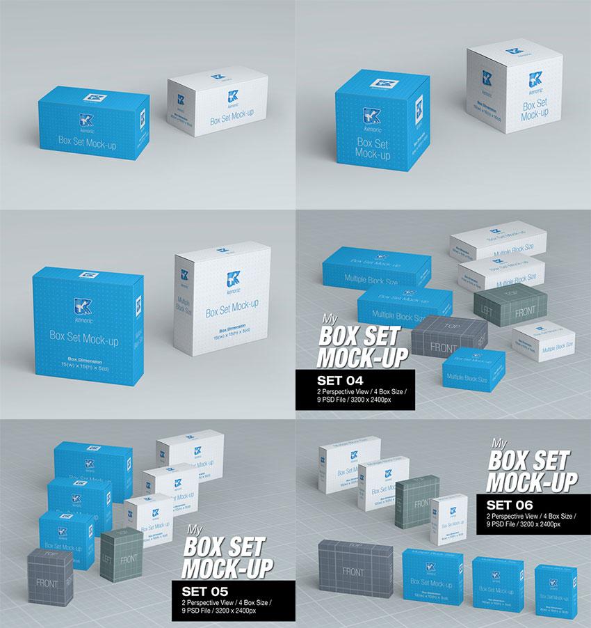 MyBox Set Mock-up Bundle
