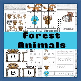 forest animals preschool worksheets