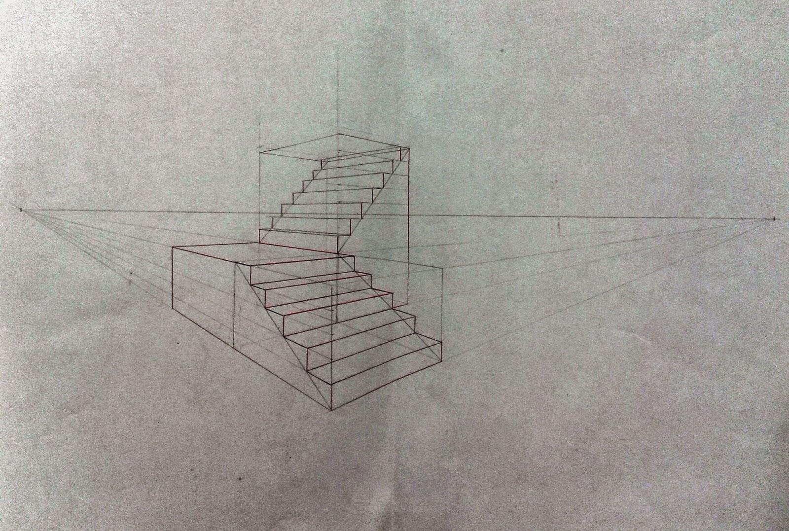 dessin illustration strip escalier en perspective un point de fuite tapes de. Black Bedroom Furniture Sets. Home Design Ideas