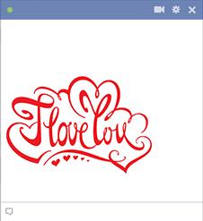 Emoticon I love you