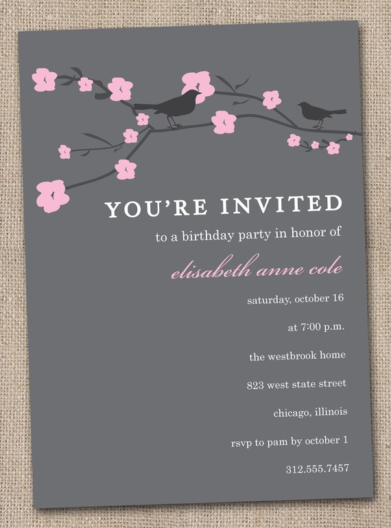 Baby Shower Templates Free Real Party Japanese Cherry Blossom