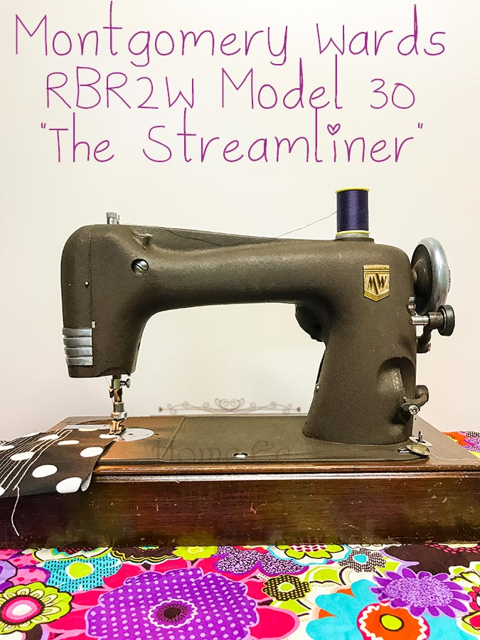 The Montgomery Wards RBR2W Model, AKA The Streamliner, was in production from 1941-1954 learn more about this #vintagesewingmachine